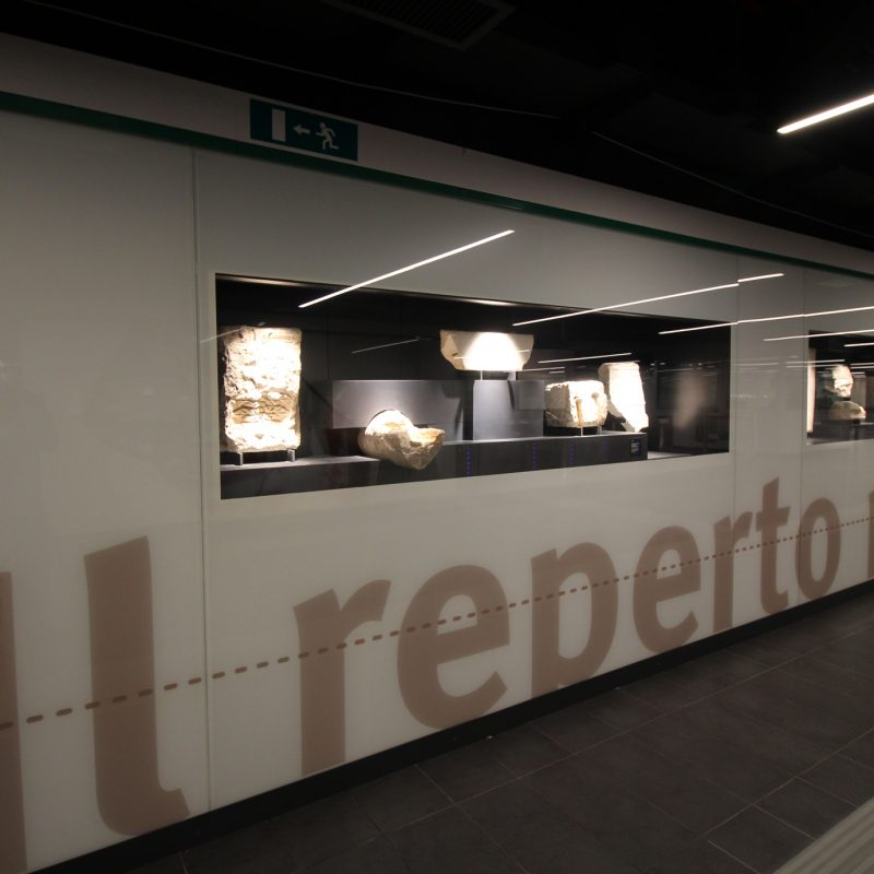 SAN GIOVANNI STATION - exhibition of archaeological finds correspondence plan